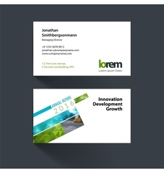 Business card template with rectangular vector