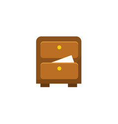 cabinet archive - file drawer - office storage vector image