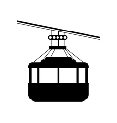 cable car brazil rio de janeiro design vector image