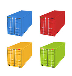 Cargo container 3d isolated storage shipping box vector