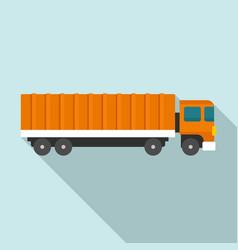 Cargo truck icon flat style vector
