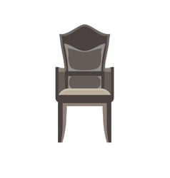 chair icon furniture office isolated design vector image