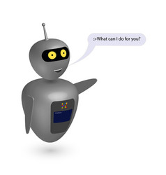 chatbot say users what can i do vector image