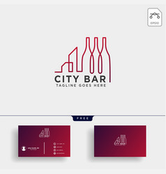 City bar drink club creative logo template vector