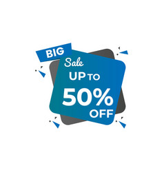 collection sale discount styled vector image