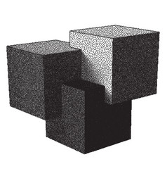 Cubes and dotwork gradient vector