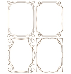 delicate frames Set on a white background vector image