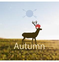 depicting Autumn vector image