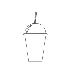 Drink glass coloring page vector