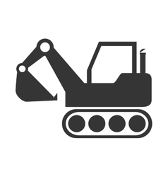 Excavator construction machinery icon vector