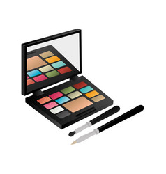 Eye shadow set with brushes vector