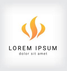 flame curve logo design template vector image