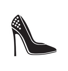 Flat icon in black and white stilettos vector
