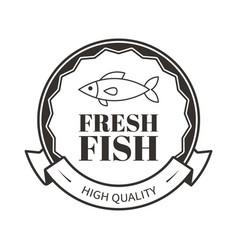 fresh fish high quality restaurant menu logo vector image