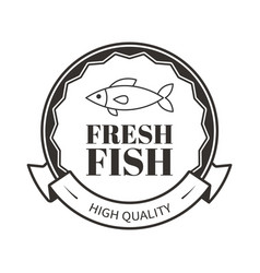 fresh fish of high quality restaurant menu logo vector image