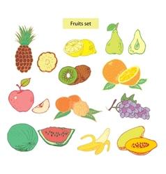 fruits set detailed vector image