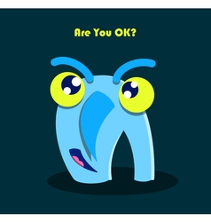 funny smiling monster vector image