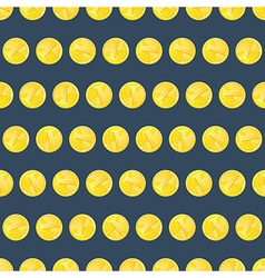 Golden coins seamless pattern vector image