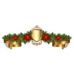 golden heraldic garland vector image