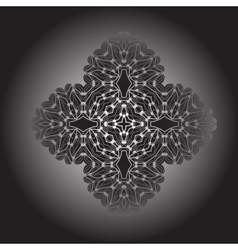 Gradient mandala Oriental abstract vector