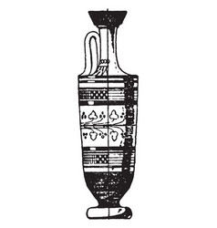 Greek vase a small slender-necked vase dor vector