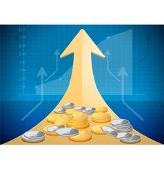 Growth market chart vector
