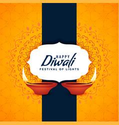 Happy diwali festival card creative background vector