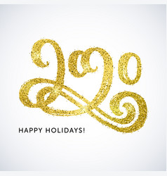 Happy holidays 2020 card vector