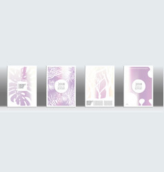 holographic exotic cover vector image