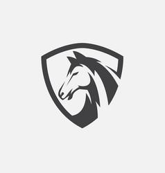 Horse shield icon vector