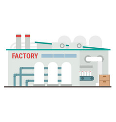 Industrial manufacturing building vector