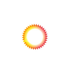 Isolated pink and yellow color sun logotype vector