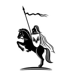 knight with a spear vector image
