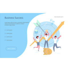 landing page template of business success vector image