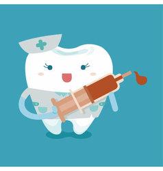 Lovely nurse tooth vector