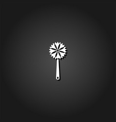 maracas icon flat vector image