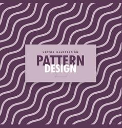 Minimal wavy diagonal lines in purple color shades vector