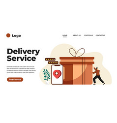 modern flat design delivery service can vector image