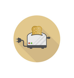 modern toaster isolated flat icon vector image