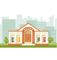 Museum building historical vector