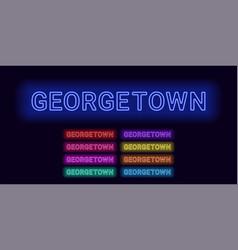Neon name of georgetown city vector