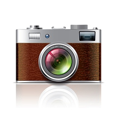 Object vintage photocamera vector