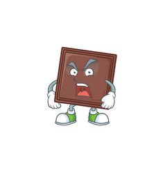 One bite chocolate bar cartoon character design vector