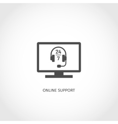 Online support icon vector