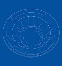 Outline subwoofer speaker vector