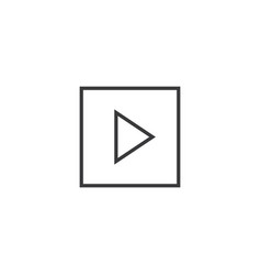 play button icon line style vector image