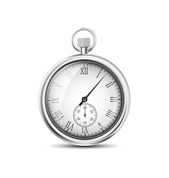 Pocket watch on a white background vector