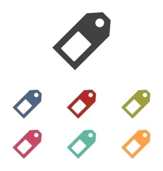 Price tag icons set vector image