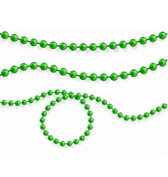 pure beads are realistic vector image