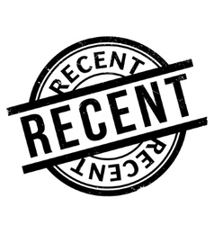Recent rubber stamp vector